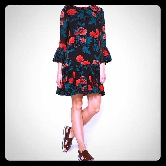d6c9ca2521cb Ganni Dresses   Floral Dress Sz 36 Us Sz 4small   Poshmark